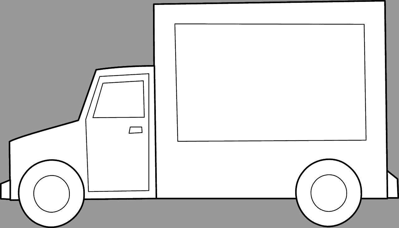 משאית לבנה