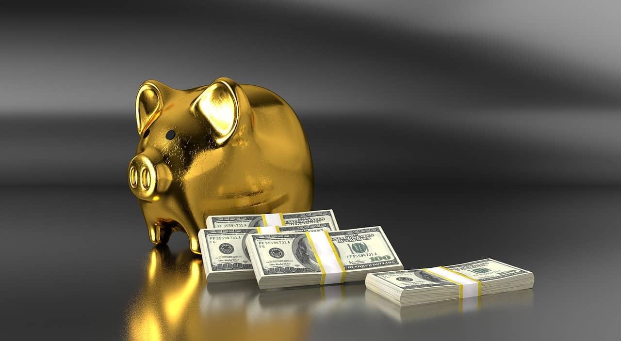קופת חיסכון בצבע זהב